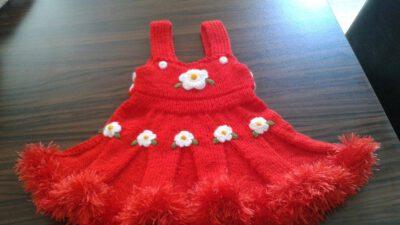 Örgü Kız Çocuk Elbise Tarifi