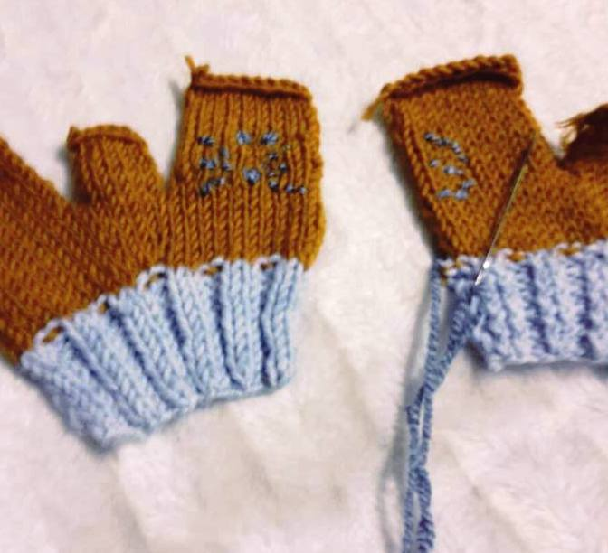 örgü eldivenler