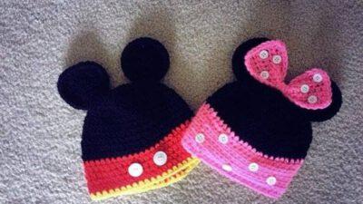 Mickey ve Minnie Örgü Şapka