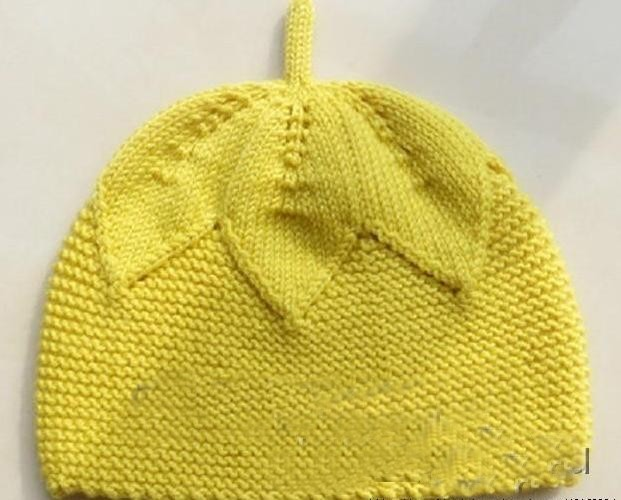 örgü yaprak şapka