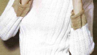 İki Renkli Bayan Kazak Modeli