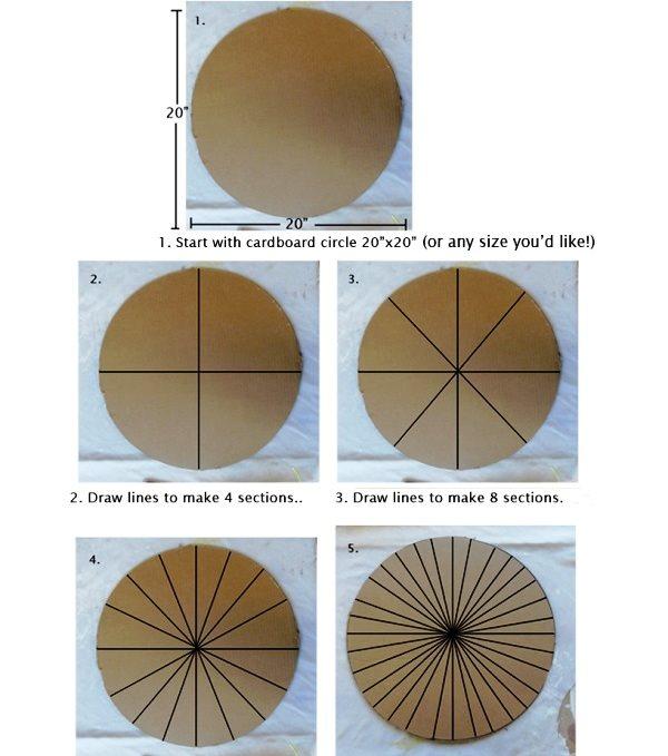 1 kartonu işaretleyerek kesilecekkısımları belirleme