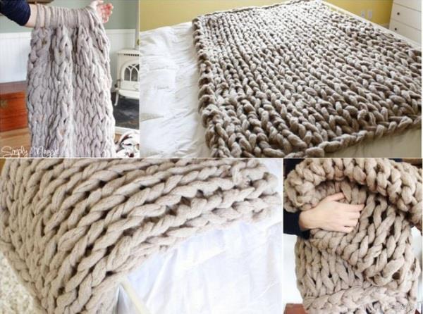 1 saatte battaniye örme