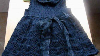 Örgü Kız Çocuk Elbisesi Tarifi – Yapımı