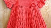 Örgü Kırmızı Kız Elbisesi Tarifi