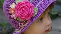 Gül Motifli Örgü Kız Çocuk Beresi Tarifi