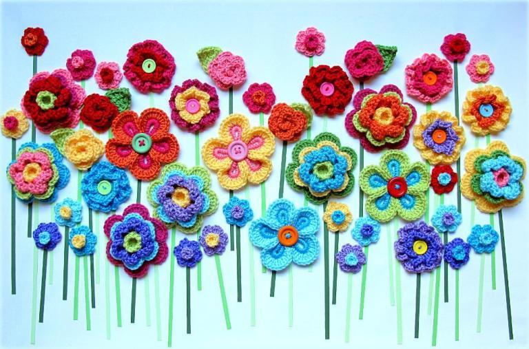 çiçek motifli pano
