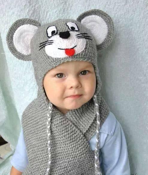 örgü kulaklı şapka modeli