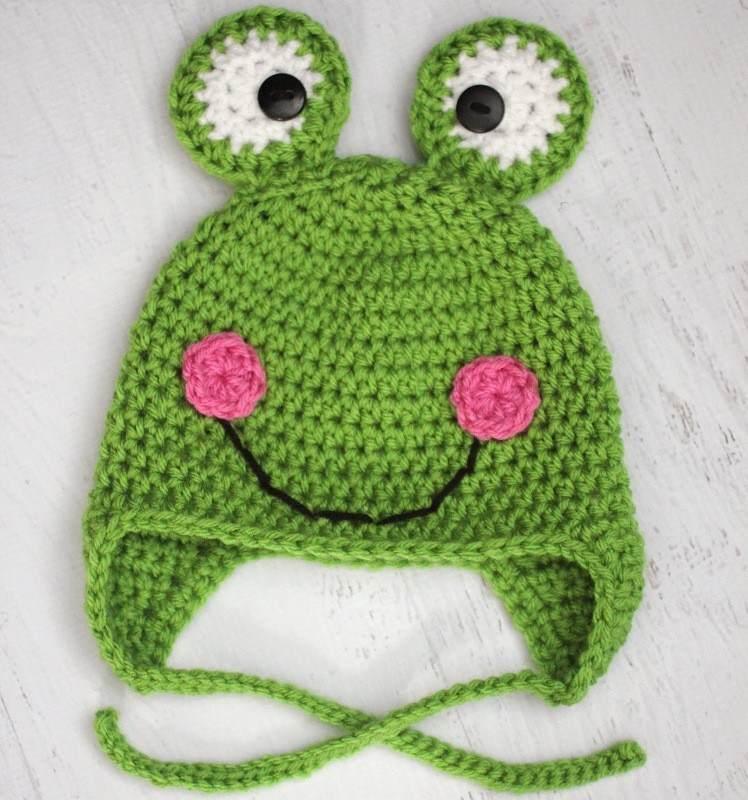 2 kulaklu kurbağa örgü şapka
