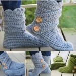 mavi düğmeli örgü çorap