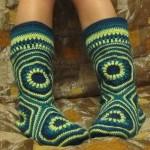 motifli ev çorabı