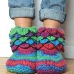 rengarenk ev çorapları