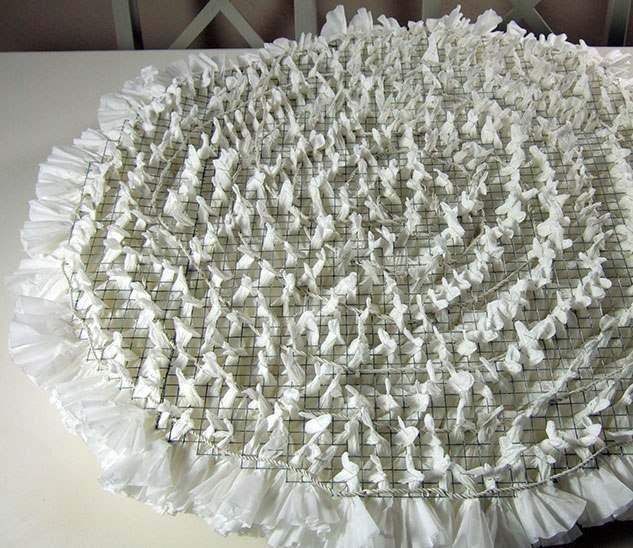 10  kahve filtelerin tele geçirilmiş hali
