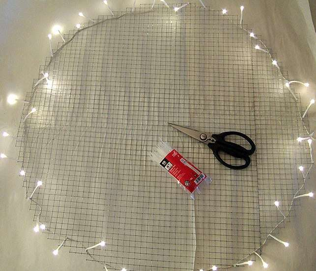 4 led ışıklar ve malzemeler