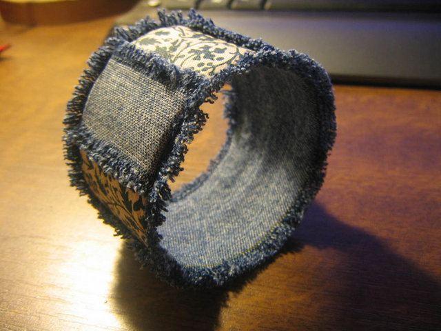 8 iç kısma kot kumaş yapıştırılması