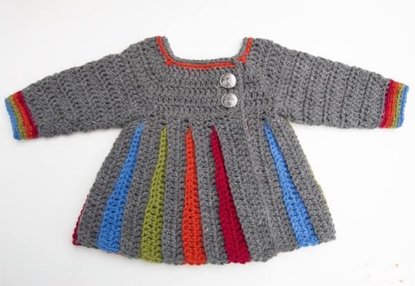 renkli bebek hırkası modeli