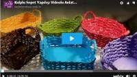 Gazete ve Dergilerle Kulplu Sepet Yapılışı Videolu Anlatım