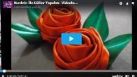 Kurdele İle Güller Yapalım- Videolu Anlatım