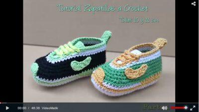 Tığ İşi Bebek Ayakkabıları