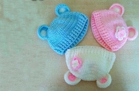 Ayı Kulaklı Tığ Bebek Şapka Nasıl Yapılır