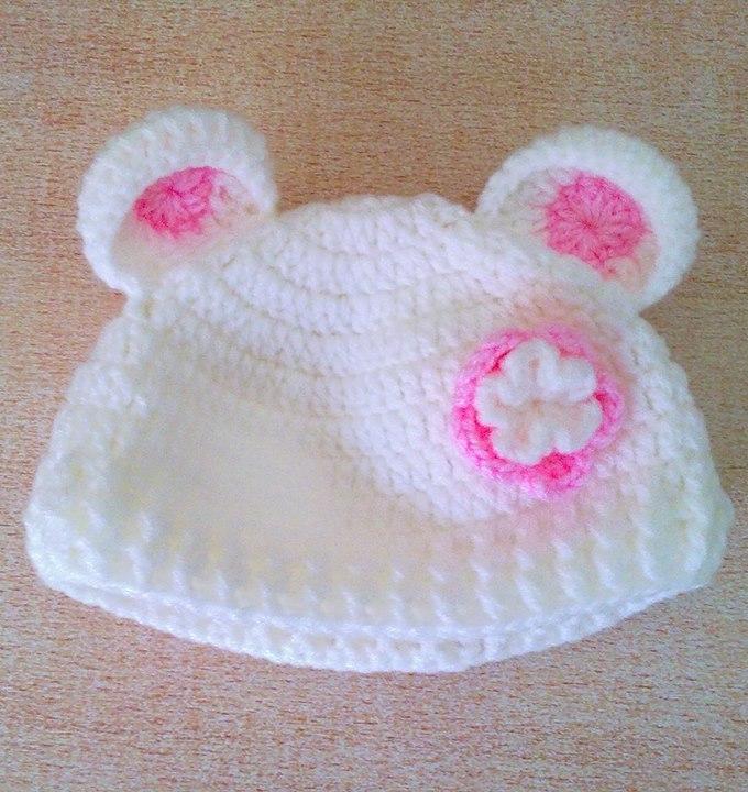 Ayı Kulaklı Tığ Bebek Şapka