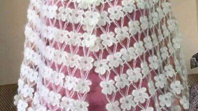 Çiçekli şal yapımı