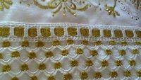Altın yaldızlı havlu kenarı yapımı