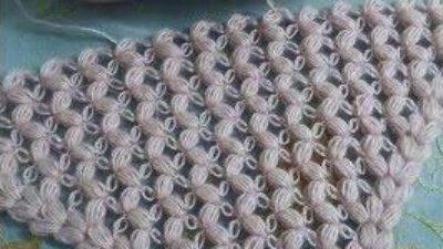 Fıstıklı örümcekli üçgen şal yapımı