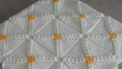 Tığ İşi Fıstık Süslemeli Motifli Bebek Battaniyesi Yapımı