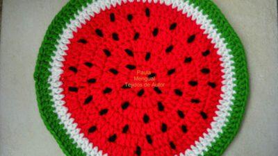 Karpuz Desenli Renkli Supla Yapımı