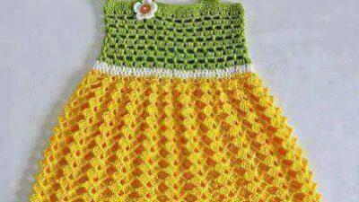Delikli 2 Renkli Çiçek Süslemeli Tığ İşi Jile Yapımı. 2 yaş.