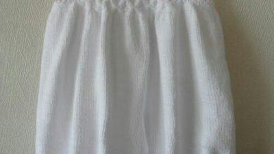 Şalvar Tipi Bol Kısa Askılı Pantolon Yapımı. 2 yaş.