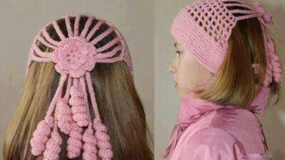 Çiçek Süslemeli Bandana Saç Tokası Yapımı.