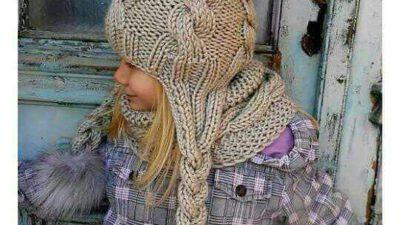 Burgu Desenli Kulaklıklı Püskül Süslemeli Kolay Çocuk Bere Yapımı.  2 .3 yaş