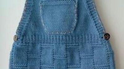Kot Görünümlü Cepli Askılı Jile Yapımı.  2 .3 yaş