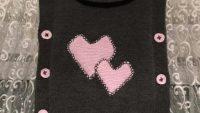Kalp Süslemeli Yandan Düğmeli Degaje Yakalı Kolay Süveter Nasıl Örülür. 5 yaş