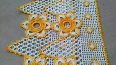 Büyük Çiçek Ve Motif Süslemeli Çeyizlik Güzel Ağır Havlu Kenarı Yapımı