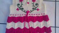 Ajurlu İşleme Çiçek Süslemeli Çocuk Elbisesi / Çocuk Jilesi Yapımı 3 .4 yaş.