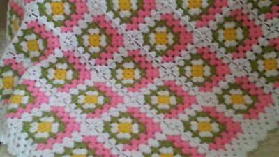 Motif Olarak Örülen Renkli Hanım Dilendi Bey Beğendi Örneğinde Çocuk Battaniye Yapımı2