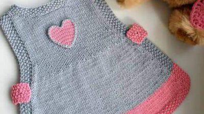Pirinç Örnekli Kalp Süslemeli Kolay Çocuk Jile Yapımı. 1 .2 yaş