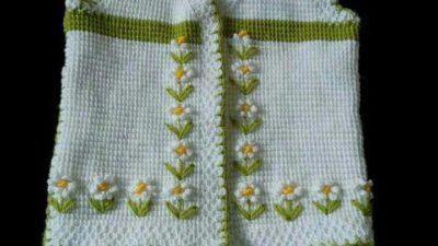 Chaqueta mangas 3/4, dorso. Crochet PAPATYA ÖRGÜLER YÖNETİMİ ... | 225x400