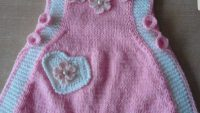 2 Renkli Çiçek Kalp Ve İnci Süslemeli Çocuk Jilesi Yapımı.  2 . Yaş