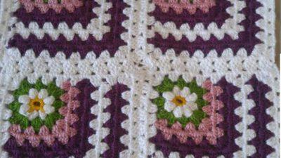 Motif Olarak Örülen Renkli Kolay Hanım Dilendi Bey Beğendi Örneğinde Çocuk Battaniye Yapımı.