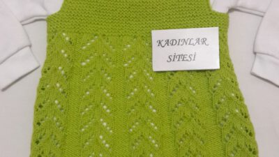 Ajur Örnekli Kare Yakalı Kolay Jile / Çocuk Elbisesi Yapımı. 2 yaş