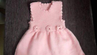 Volan Ve Çiçek Süslemeli Çocuk Jilesi / Elbisesi Yapımı. 2 .3 yaş