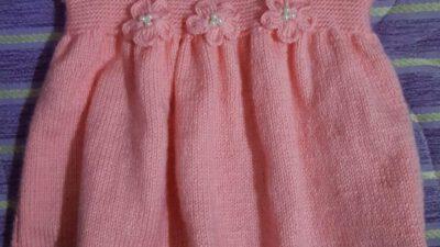 Çiçek Ve İnci Süslemeli Kolay Çocuk Jile / Elbise Tarifi. 2 .3 yaş