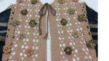 Tığ İşi Renkli Fıstıklı Çiçek Süslemeli Çeyizlik Bayan Yelek Yapımı. 38 .40 beden
