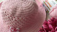 Yazlık Kolay Fötr Şapka Nasıl Örülür? 2 .3 yaş