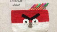 Kolay ve Kullanışlı Angry Bird-Kızgın Kuş Figürlü Kalemlik Yapımı
