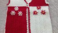 Çiçek Süslemeli 3 Düz 1 Büz Örneğinde Çocuk Yeleği Tarifi. 3 yaş